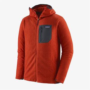 Orangenfarbene Fleecejacke von Patagonia