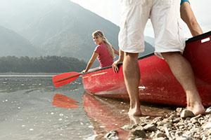 Pärchen im Boot auf Sylvesternsee