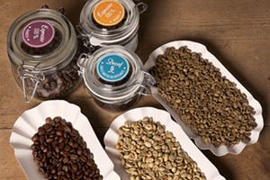 Kaffee in 3 verschiedenen Röststufen