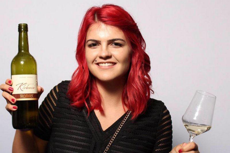 Katja Ilijevec geborene Klobasa Weinkönigin und Chefin der Vinska Fontana Kapela