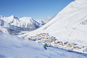 Skifahrer im Kühtai