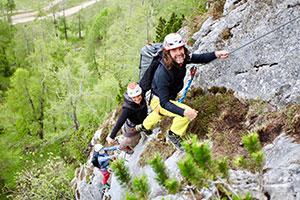 Extremkletterer Thomas Huber ©SC Grünstein Klettersteig eV