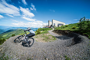 Radfahrer auf dem neuen Flow Country Trail