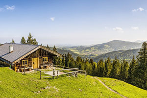 Alpen Panoram Wanderer Gebirge