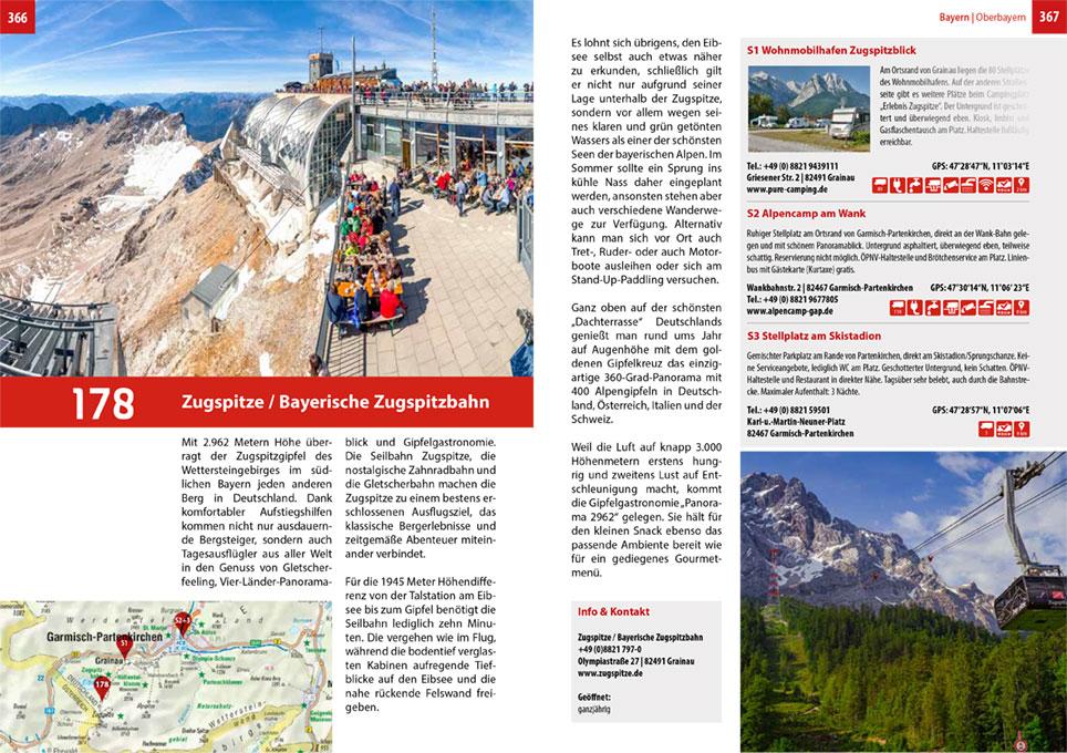 Doppelseite aus 200 Wohnmobil-Ziele in Deutschland TVV Verlag Snezana Simicic