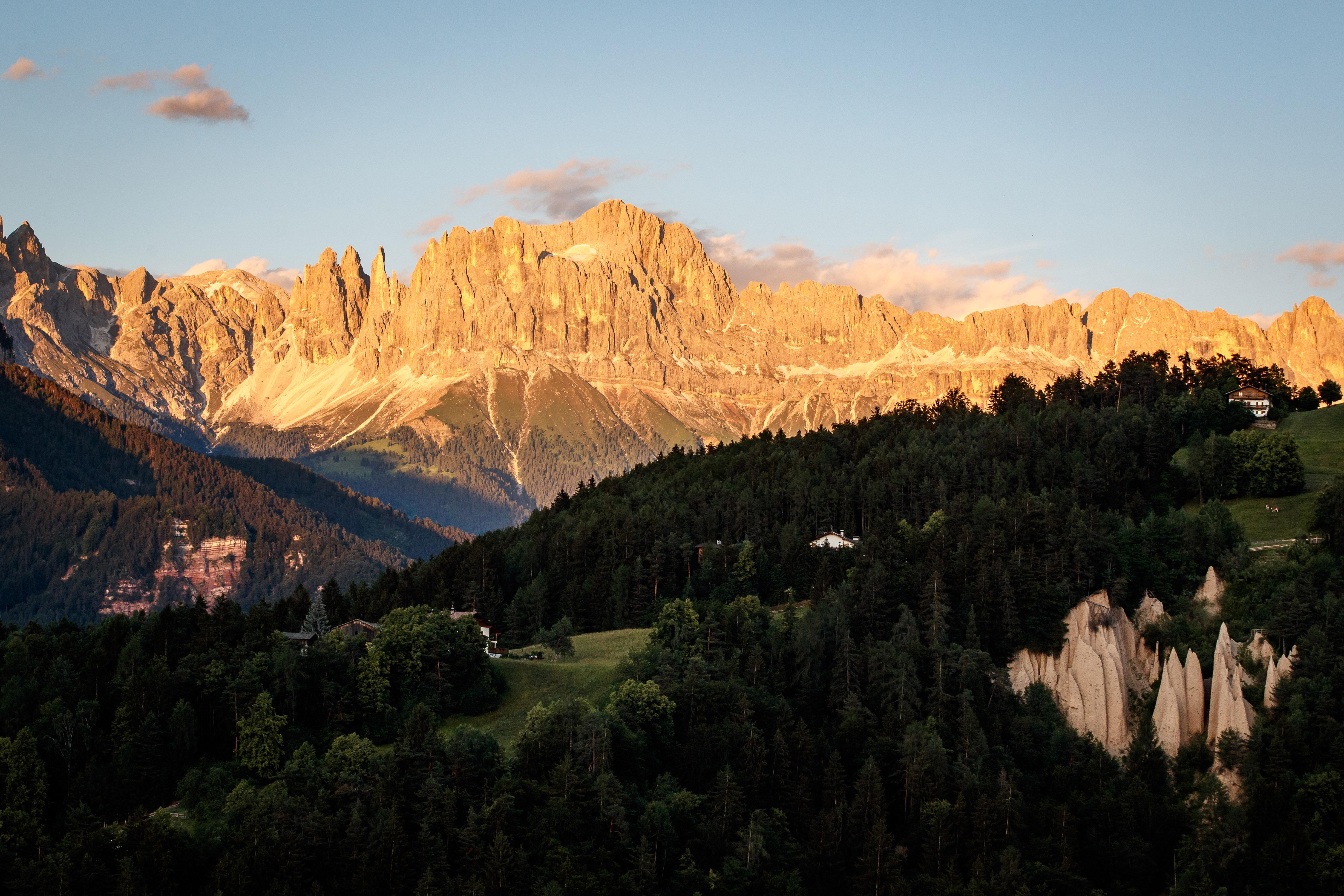 Dolomiten-Panorama in Steinegg