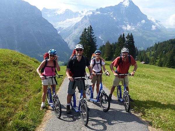 Schweiz Alpen Trottibike bergtauglichen Tretroller ©M.Neiken